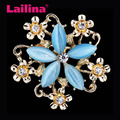 Multi Colors Crystal Rhinestone Maple Leaves Brooch Pin Women Garment Fashion Jewelry Accessory Gift