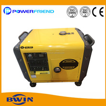 5kw portable diesel genset 5kva noiseless small power generator with 4 wheels