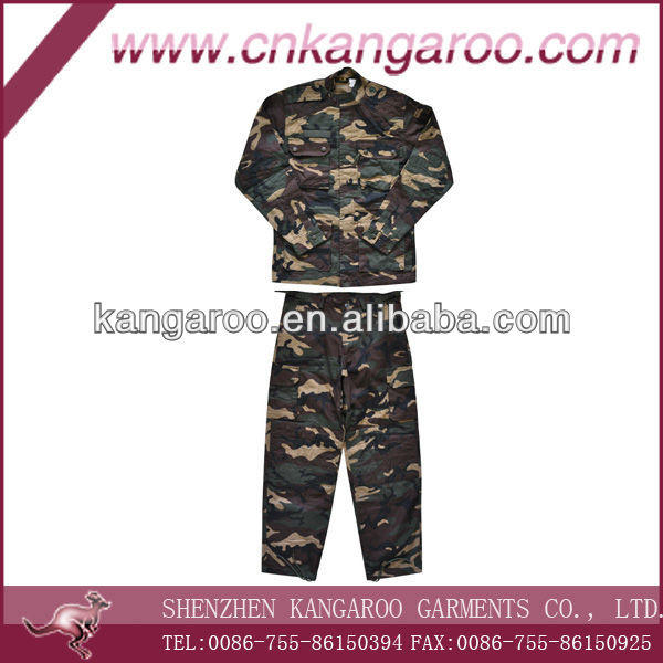 Military Thick Combat Uniform with Padding Reinforcement on Shoulder, Elbow, Knee & Bottom
