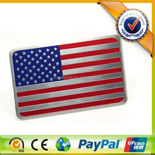 china custom american flag car badge manufacturer