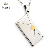 "Yiwu Meise Envelope Pendant Necklace With Gold Colored Heart Seal ""For the Little Girl You Were..."" Daughter Gifts"
