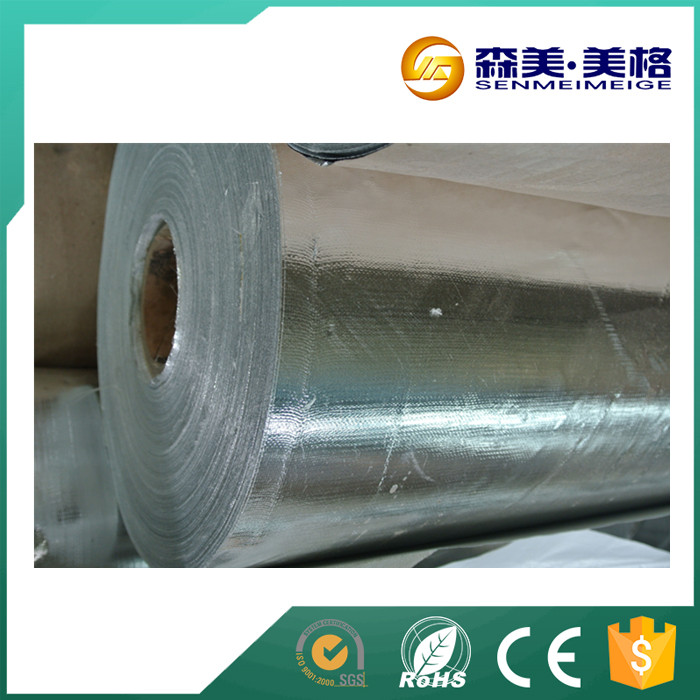 Fireproof aluminum foil facing with glass fiber cloth for construction