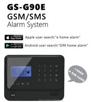 2014 D I Y self install Home Security Burglar alarm with android APP alarm system+IOS APP alarm system