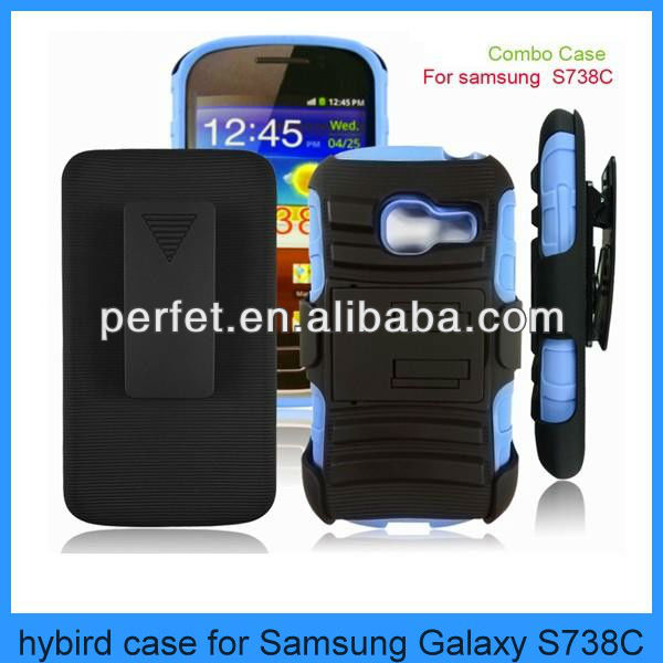 mobile phone hybird case for samsung galaxy centura s738c