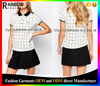 2016 OEM Wholesale Manufacturer Custom High Quality Women Check polo Shirts in white