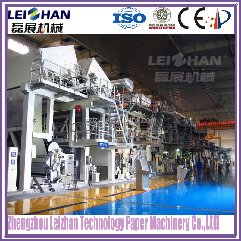 Waste material project kraft paper mill machine for paper recycling