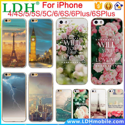 Amazing landscape Soft TPU Phone Case For Apple iPhone 4 4s 5 5S SE 5C 6 6s 6Plus 6sPlus Mobile Phone Back Skin Cases Cover