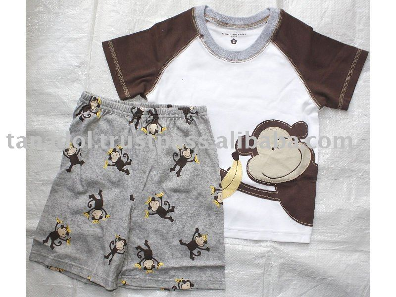 Boys 2 pcs night set,children's clothing,children wear
