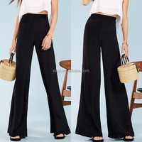 new design trousers for women Relaxed fit high-rise pant flare leg opening Back zipper entry tall drink of water Flared leg trou