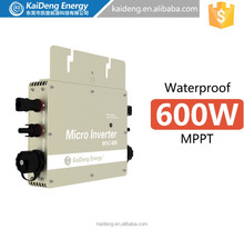 High performance grid tied 600W DC/AC roof mounted mini-type Solar Micro Inverter for PV