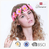 Wholesale 100% Handmade Daisy Flower Head Band Wedding Hair Accessories