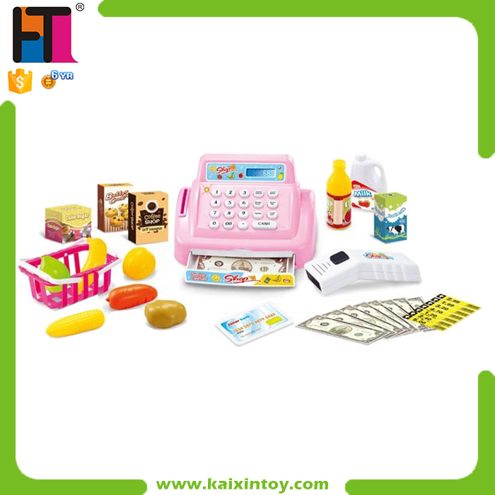 Plastic Pretend Market Toy Kids Play Electronic Mini Cash Register