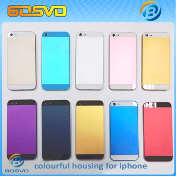 mobile phone back rear housing for iphone 5s for iphone5s battery door cover case replacement parts