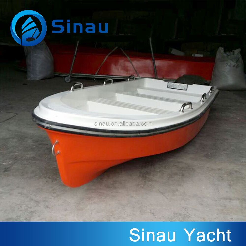 rowing boat fiberglass 4m 12ft 6 person paddle boat