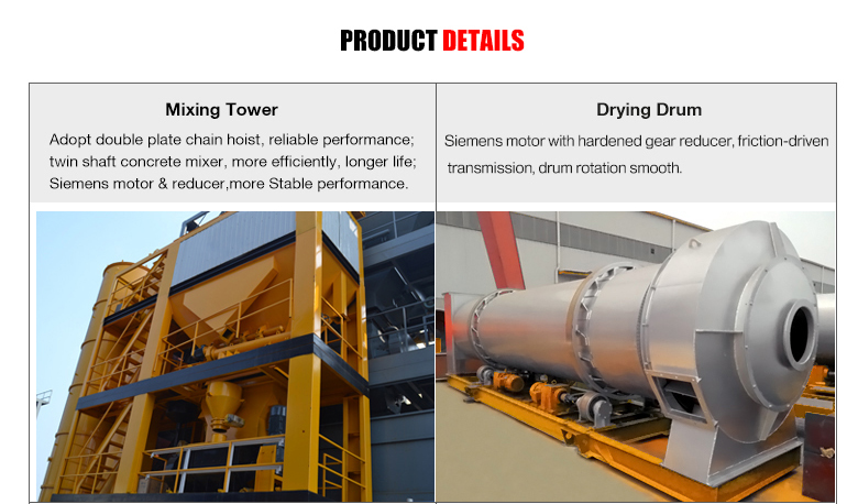 Batching Asphalt Manufacturer Supplier Mixing Plant Price 80t/h batch mix asphalt plant equipment for sale