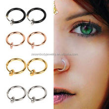Factory Wholesale OEM Nickle Fake Nose Piercing Free Nose Rings