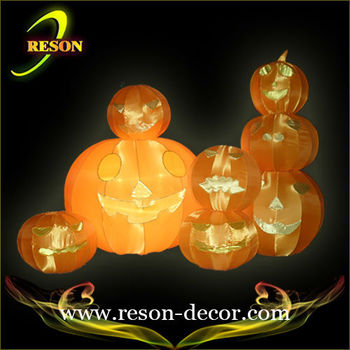 Halloween plastic craft pumpkins decorative