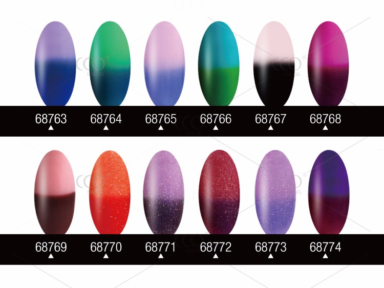 CCO Temperature Change 24 Colors UV Gel Nail Polish With Competitive Price
