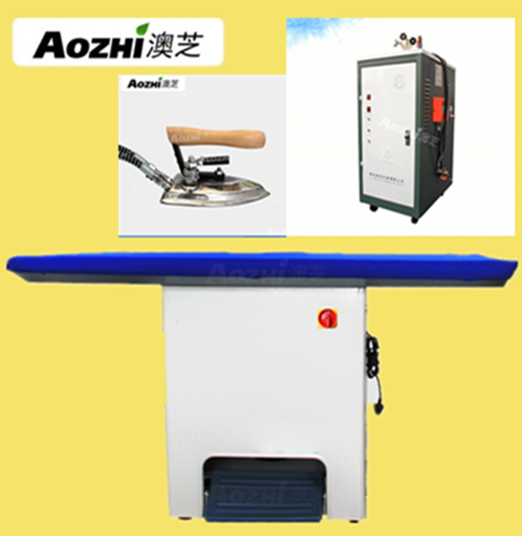 Aozhi steam ironing pressing table laundry ironing vacuum table