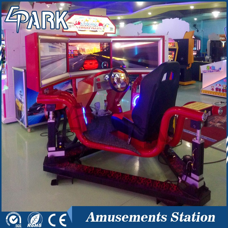 Hottest attractive exciting experience 3 screens car driving simulator