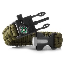 custom woven nylon rope tactical bracelets for soldier, military paracord bracelet for survival use, camping, emergency
