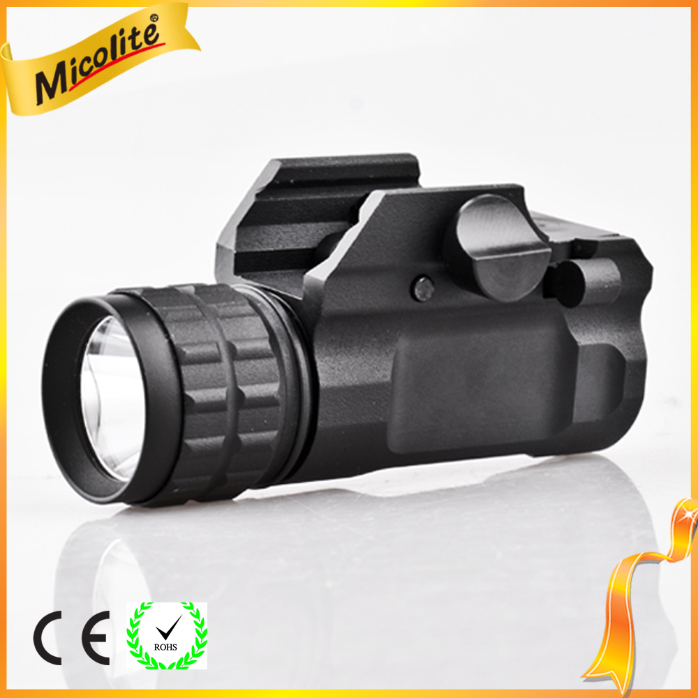 LED Tactical Gun Flashlight 2-Mode 250LM Pistol Handgun Torch Light for Hiking,Camping,Hunting
