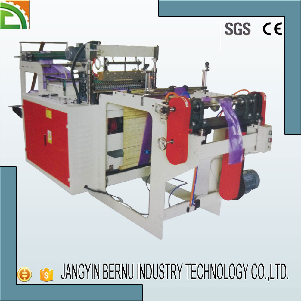 high speed small plastic rubbish bag making machine