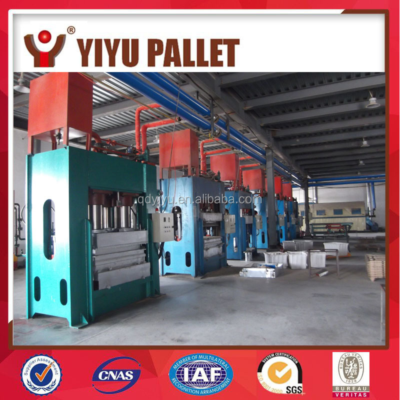 Best price long usage time wood shaving pallet production line/ wood shaving pallet forming machine