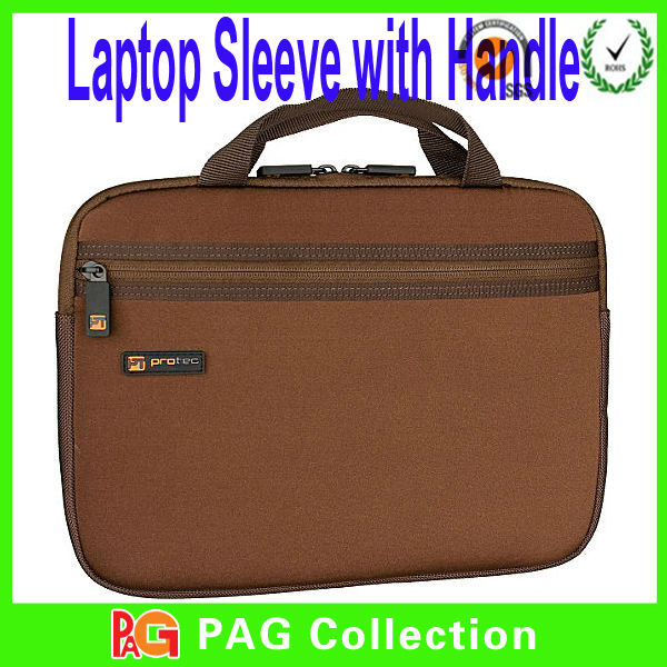 2014 fashional low cost hot sell 15 inch neoprene laptop sleeve with handle