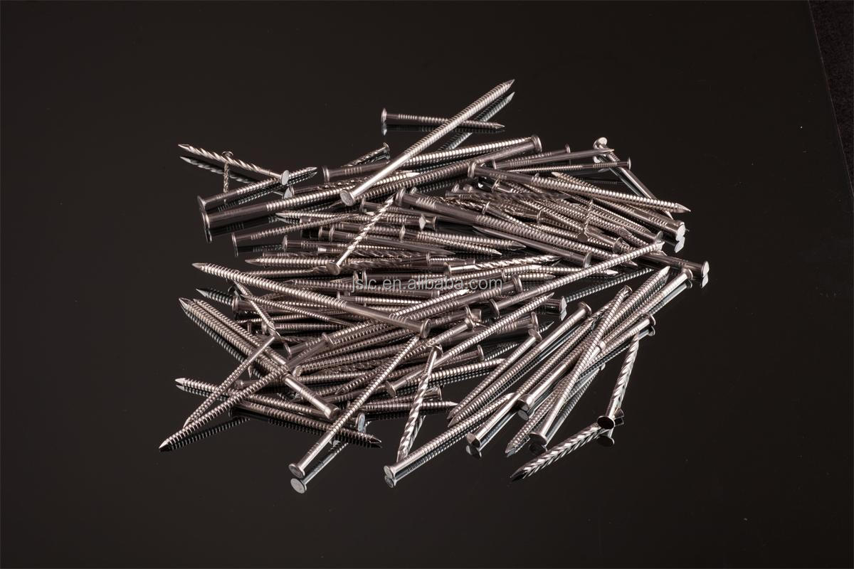 Flat Head Stainless Steel Ring shank construction nails