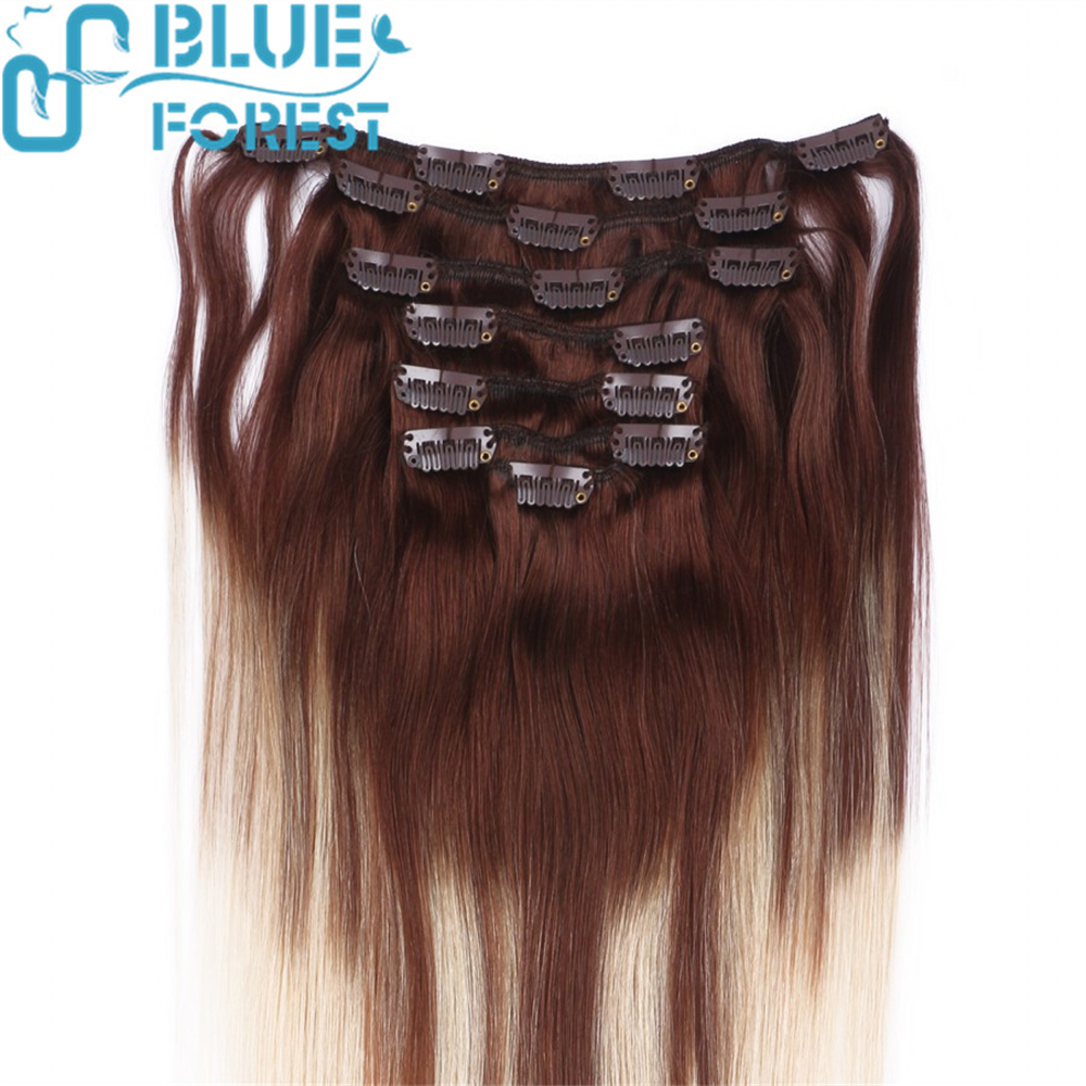 High Quality Indian Virgin Remy Hair Clips on Hair Weft Beautiful Dark Brown Color #2 In Stock Human Hair Extensions