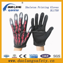 Wholesale Skeleton printing neon magic gloves