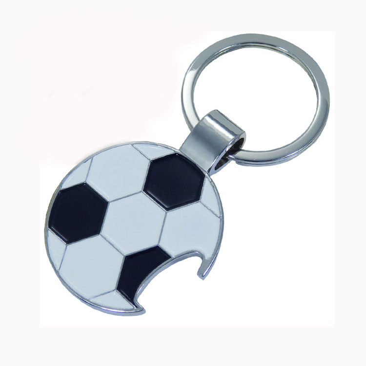 New fashion cheap World Cup souvenir bottle opener key chains soccer ball keychain alloy