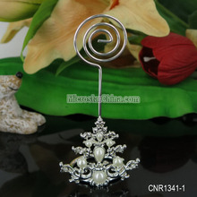 46*49mm Wholesale alloy imitation pearl Christmas tree business wedding place card holder
