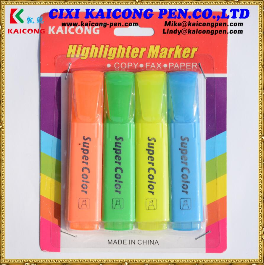 Kaicong 6Colors Fluorescent highlighter marker  paint marker Fluorescent marker