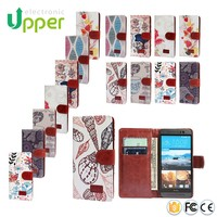 2016 China supplier PU Leather Wallet Mobile Phone flip back cover case for htc desire 820 700 500 210 626