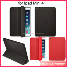 Wholesale Smart cover kickstand tablet leather case for Ipad Mini 4,fashion business tablet leather case for Ipad Mini 4