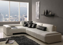 Factory direct modern lobby reclining sofa leather sectional sofa