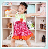 2015 summer cloth pakistani natural cotton flower baby girl dress beautiful child clothing girls casual cotton floral dresses