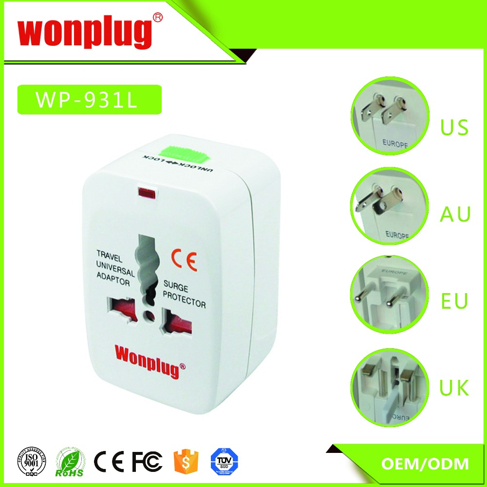 Top Quality Hot Selling travel adaptor with surge protector