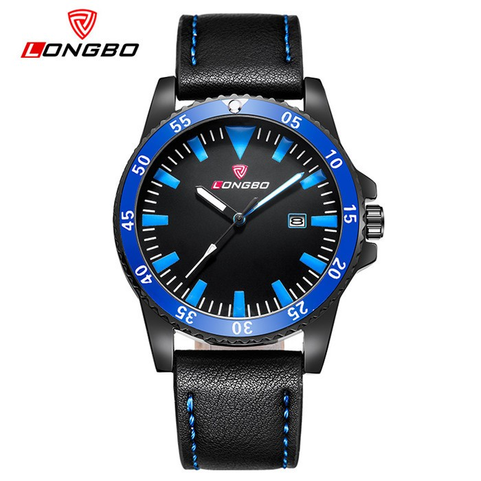 Longbo brand colorful dial japan movt quartz watch stainless steel bezel chronograph watch men's watches