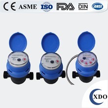 Volumetric magnetic drive rotary piston plastic water meter covers