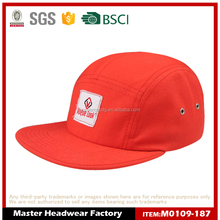 WHOLESALE CUSTOM 5 PANEL HAT WITH WOVEN LABEL