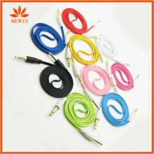 Gold color audio fiber optic cable for speaker For Car Aux
