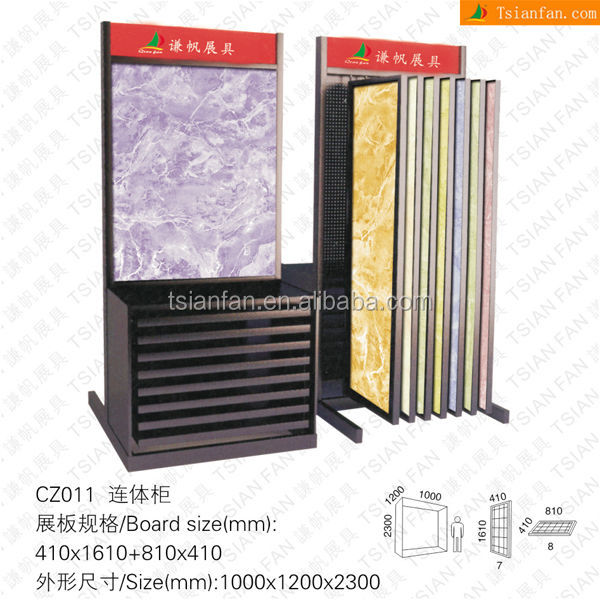 CZ011 Luxuriousness Ceramic Tile Metal Display Cabinet