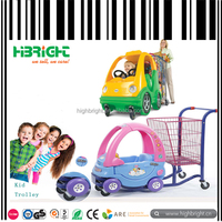 Metal shopping cart with kids toy cart,Plastic push plastic cart for kids, Baby stroller with kids samall toy cars