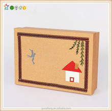 Wholesale new design gift packaging paper craft box chocolate box for wedding gift