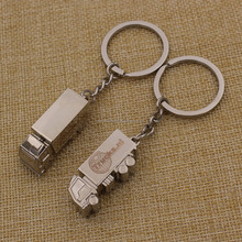 Custom metal 3d truck shaped keychain truck keychain