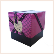 New Products Metallic Foil Tuck Top Candle Gift Box Packaging Safe Box