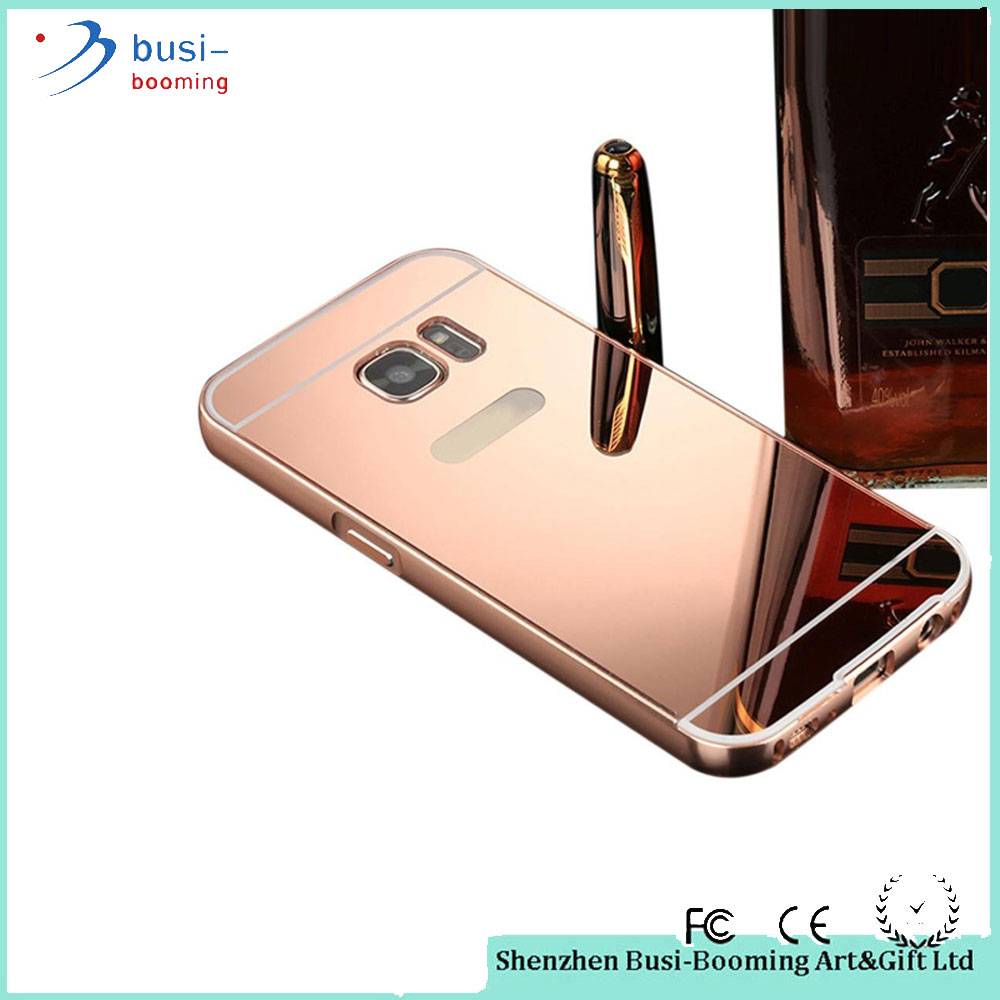 2015 Wholesale Bumper Mobile Phone Aluminum Metal Mirror Case For Samsung Galaxy J7